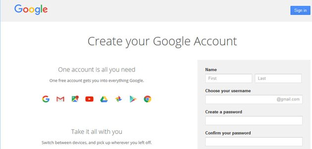 Gmail online email software
