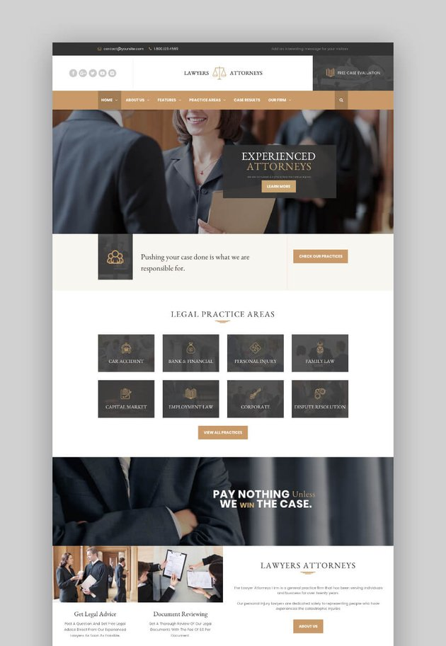 WordPress Lawyer Attorneys legal theme