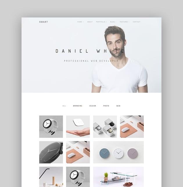 Smart WordPress theme with simple website design setup