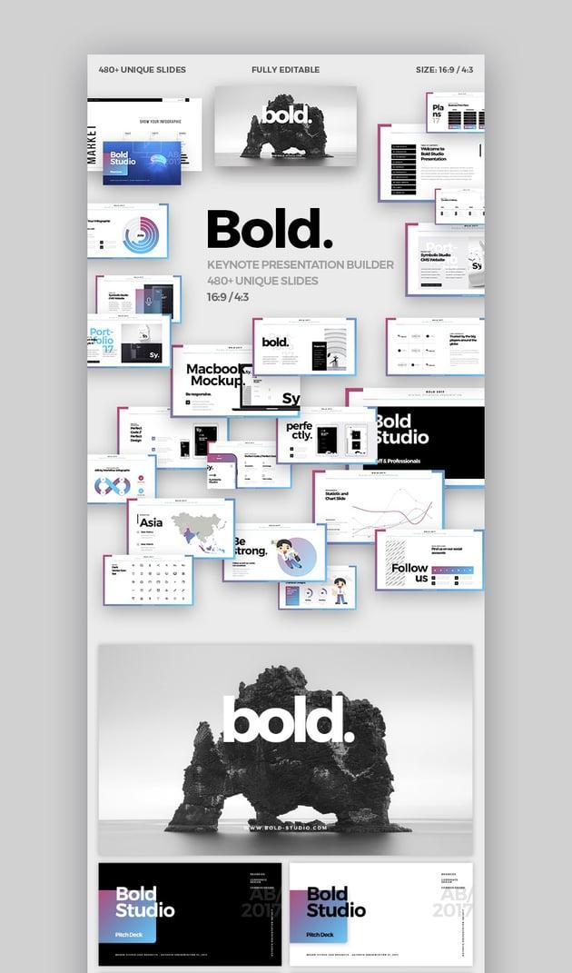 Bold Minimal Apple Keynote Theme Design