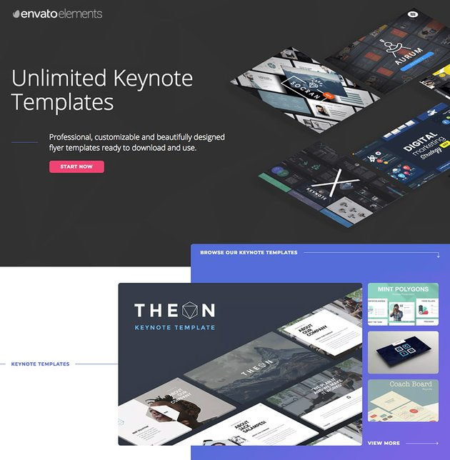 Best keynote presentations templates on Envato Elements - with unlimited access
