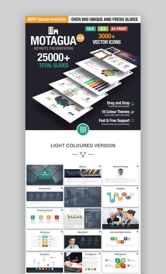 Motagua Popular Multipurpose Mac Keynote Theme