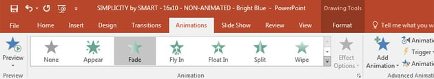 Using animations in PowerPoint
