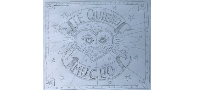 Mexican Lettering style sketch