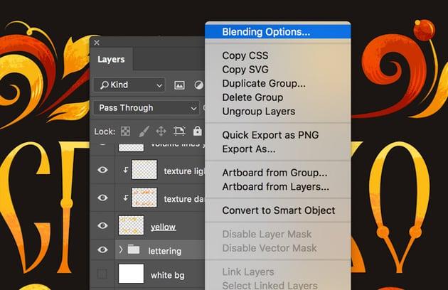 Blending Option in Adobe Photoshop