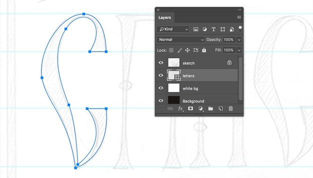 Creating letters with Vector Shapes in Adobe Photoshop