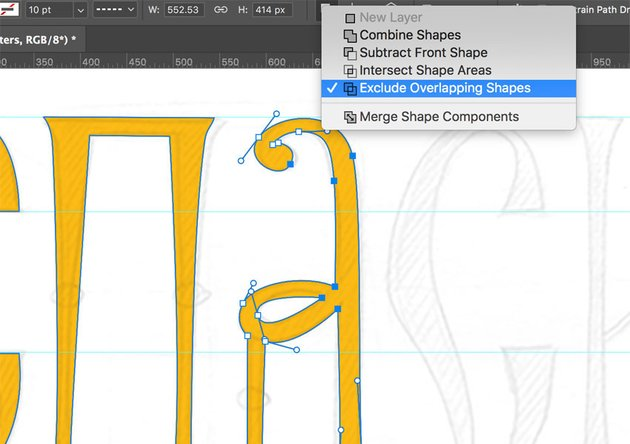 Overlapping Shapes in Adobe Photoshop