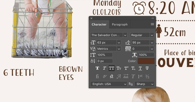 Teeth and eyes color information