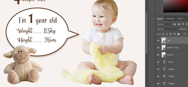 Add babys favorite toy photo