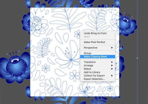 Creating Clipping Mask in Adobe Illustrator