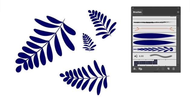 Check new vector  art brush