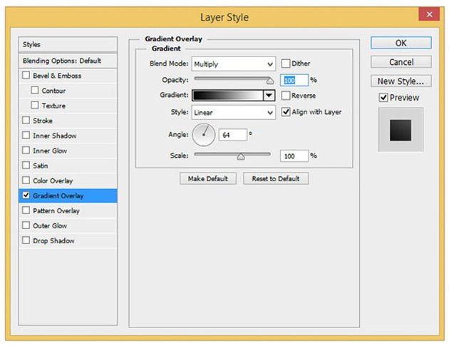 Layer style for Gradient Overlay
