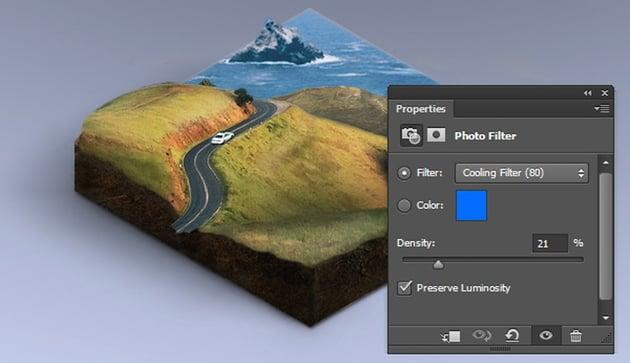 Adding photo filter adjustment
