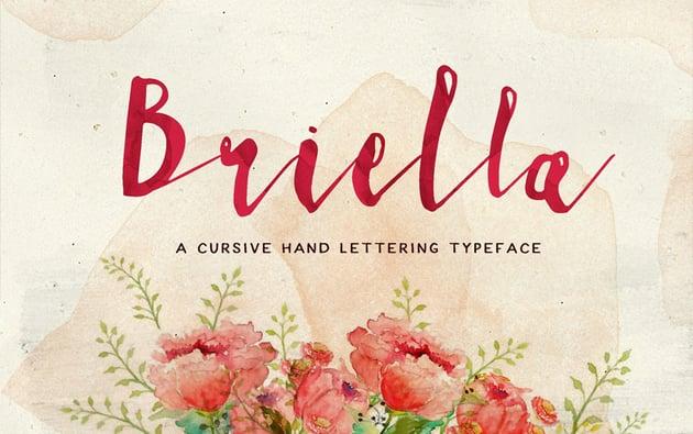 Briella Font Download Cursive