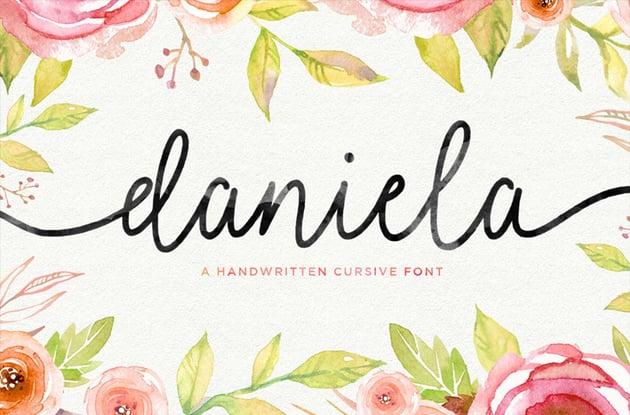 Daniela Fancy Cursive Script Font