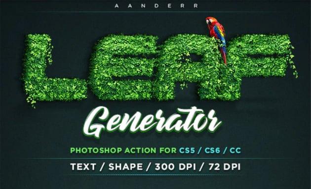 Leaf Generator Photoshop Action
