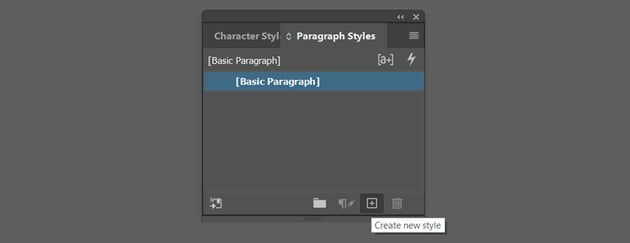 Add new Paragraph style
