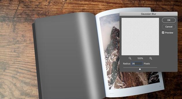Apply Gaussian Blur in Adobe Photoshop