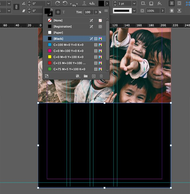 Add black rectangle