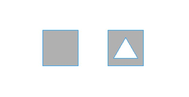 Draw rectangle and triangle