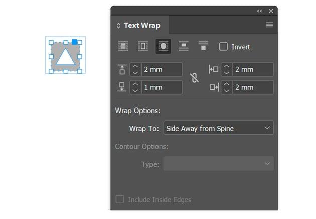 Text Wrap Settings