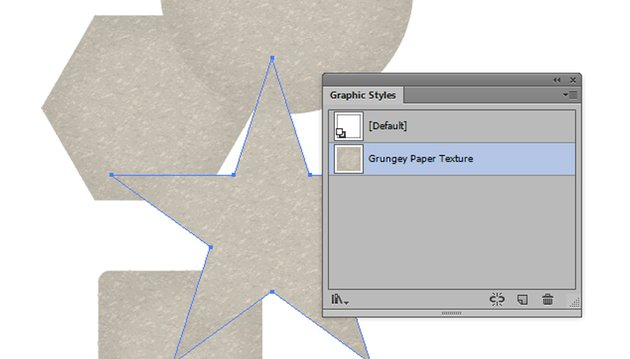 Grunge Paper Texture Graphic Style in Illustrator