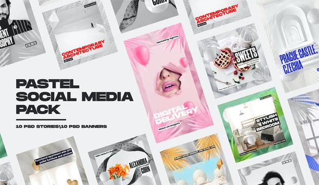 Pastel Social Media Pack