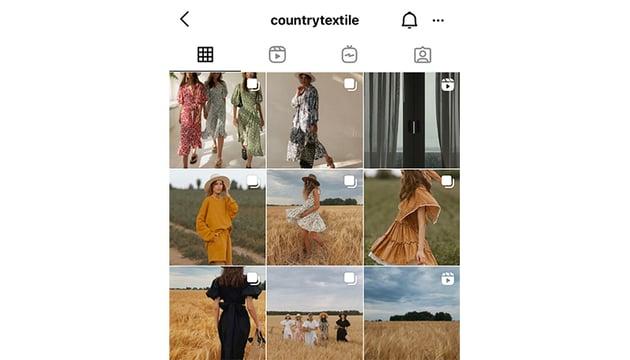 Warm filter Instagram feed