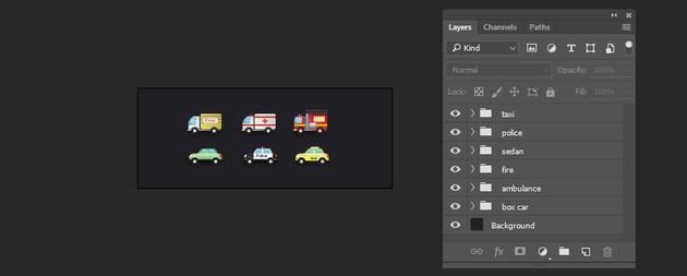 Organize your layers into group layer