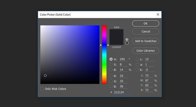 Select dark gray color