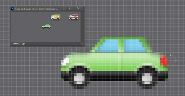 Draw cars tail light
