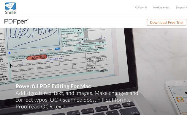 PDFpen PDF software for macs