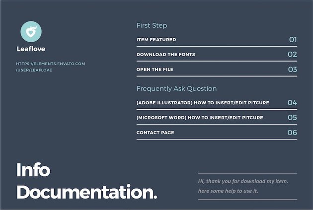 Information Documentation for a Template