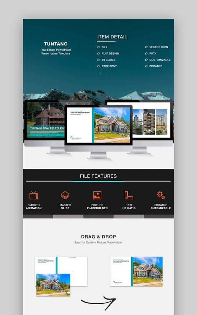 Tuntang Real Estate PowerPoint Template