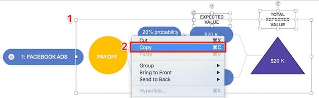 Decision Tree PowerPoint - Copy a group of slide objects