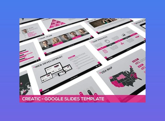 Creatic Google Slides Template - With Full Animation