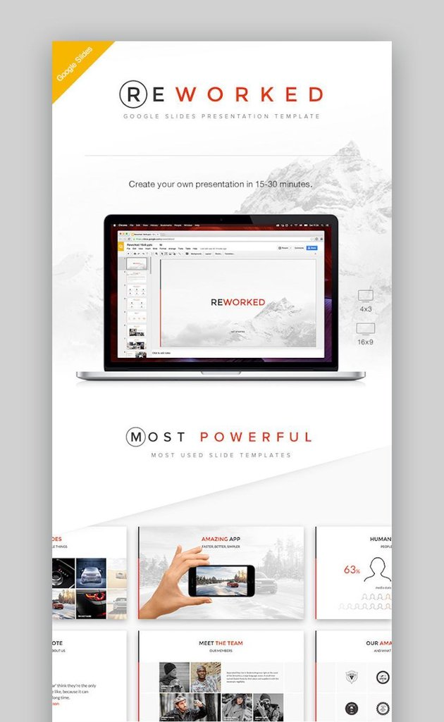 Reworked Google Slides Presentation Template