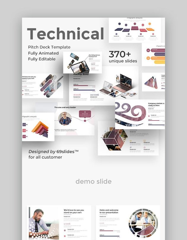 Technical Fully Animated Pitch Deck Google Slide Template