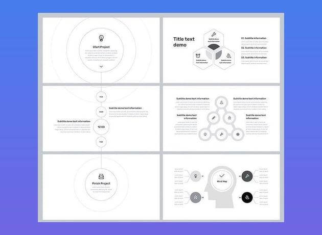 Minimal Business Google Slides with Animation