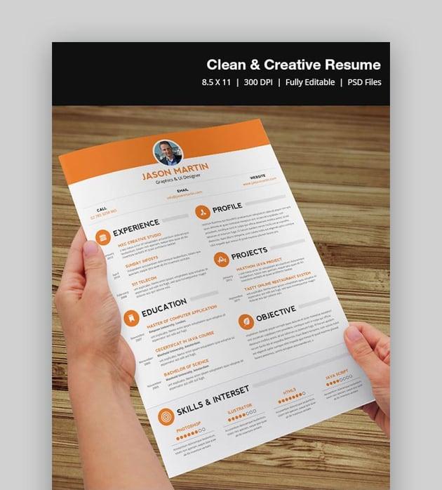 Clean  Creative Resume Template
