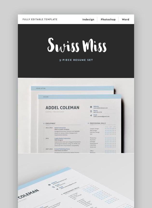 ResumeCV - Swiss Miss Creative Resume Template
