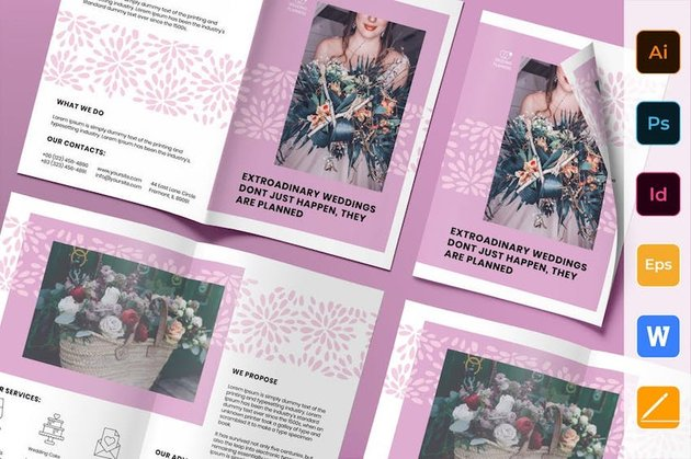 Wedding Planner Brochure Bifold