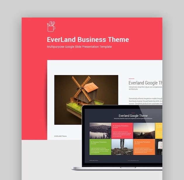 Everland Business Google Slide Theme with icons