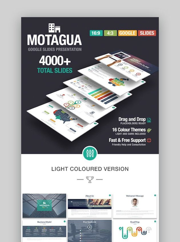Motagua - Multipurpose Google Slides Template with icons