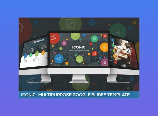Iconic Multipurpose Google Slides Template with icons