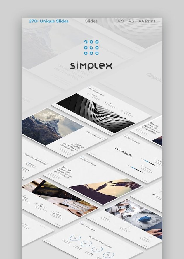 Simplex Google Slides icons