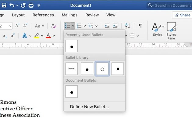 Word Bullet Library
