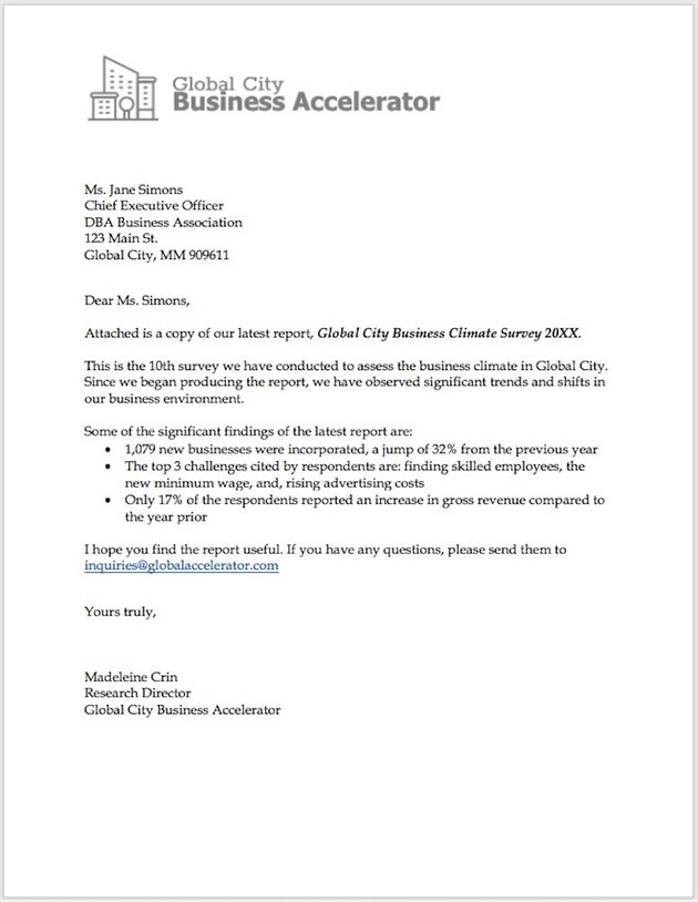 Create a Business Letter in Word