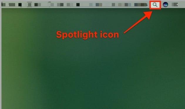 Spotlight Icon on Mac