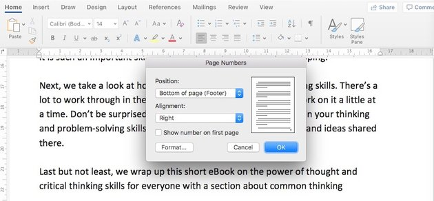 Microsoft Word - page numbers